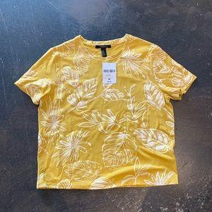 Yellow print tee